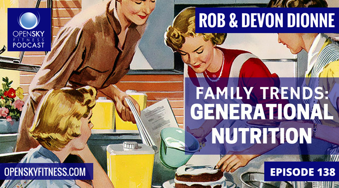 Open Sky Fitness Podcast Rob Dionne Devon Dionne Family Trends: Generational Nutrition - Ep 138