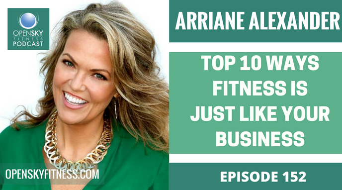OPEN SKY FITNESS PODCAST ARRIANE ALEXANDER: TOP 10 WAYS FITNESS IS JUST LIKE YOUR BUSINESS