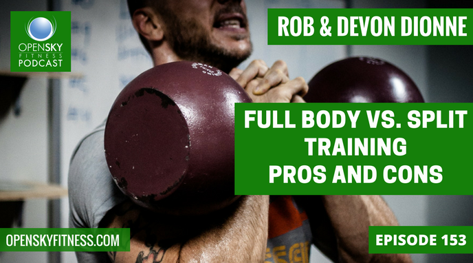 Full Body vs. Split Training: Pros and Cons - Ep. 153 OPEN SKY FITNESS PODCAST ROB DIONNE DEVON DIONNE